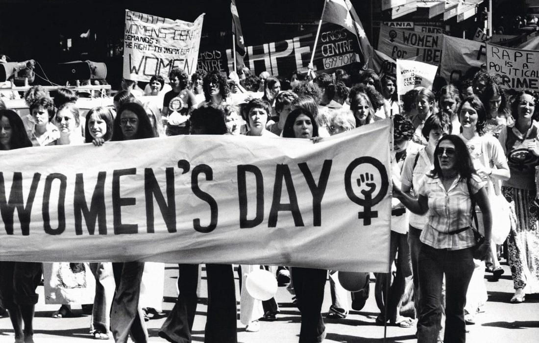 (AUSTRALIA OUT) International Women's Day, 12 March 1977. SMH Picture by DAVID BARTHO (Photo by Fairfax Media/Fairfax Media via Getty Images)
